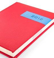 Dublin Czerwony Blekitny Kalendarz 190x205